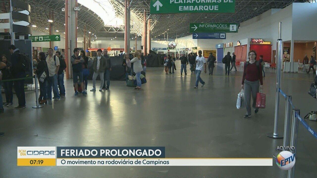 Saída de ônibus da Rodoviária de Campinas é afetada pelos efeitos da greve