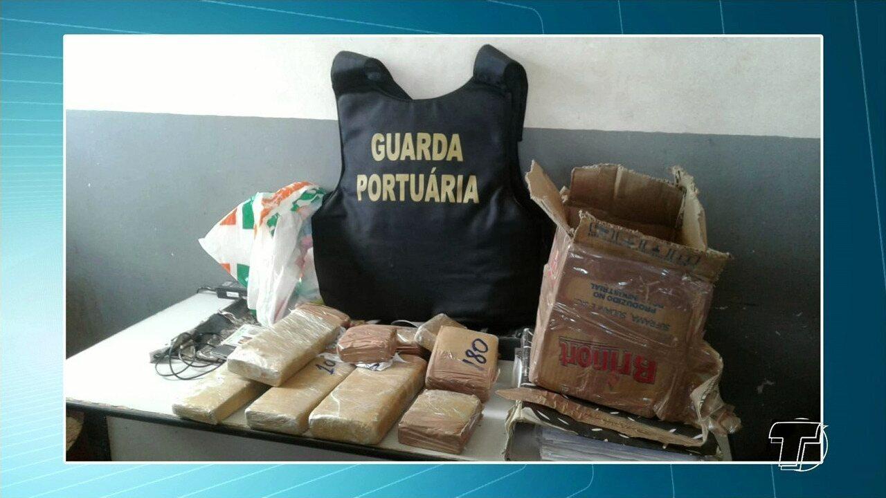 Homem é preso no porto de Santarém ao tentar embarcar quase 5kg de drogas para Manaus