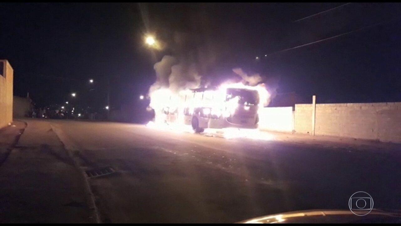 Polícia registra ataque a ônibus em 12 municípios de Minas Gerais