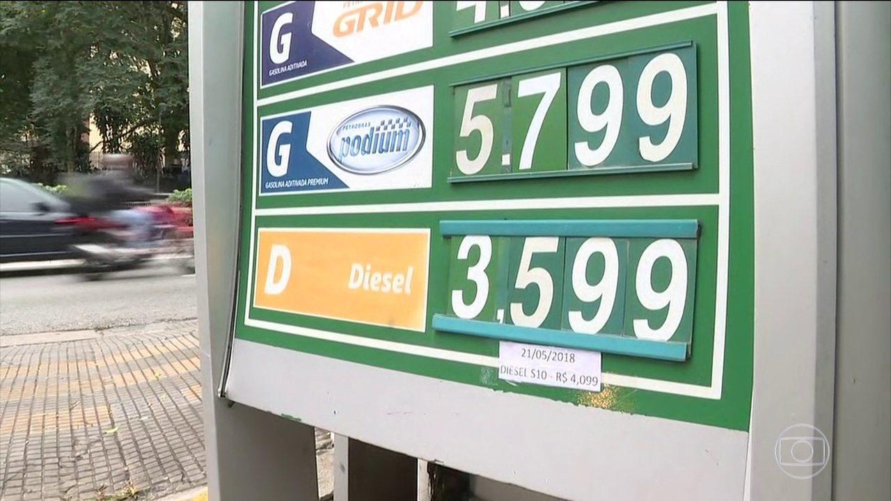 Postos que não reduzirem preço do diesel estão sujeitos a multas e perda de licença