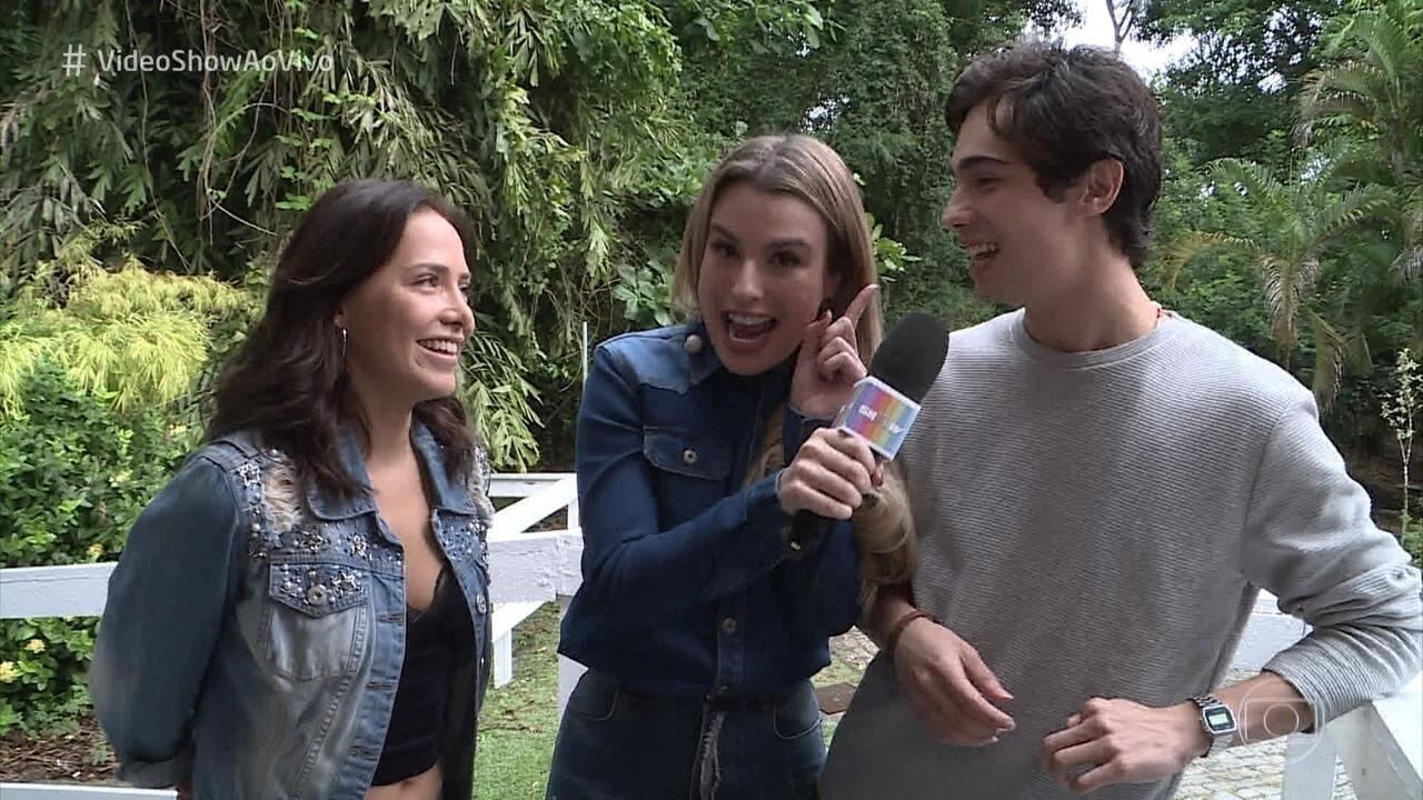 Danilo Mesquita e Letícia Colin falam sobre o interesse de Valentim por Rosa, seus personagens em 'Segundo Sol'