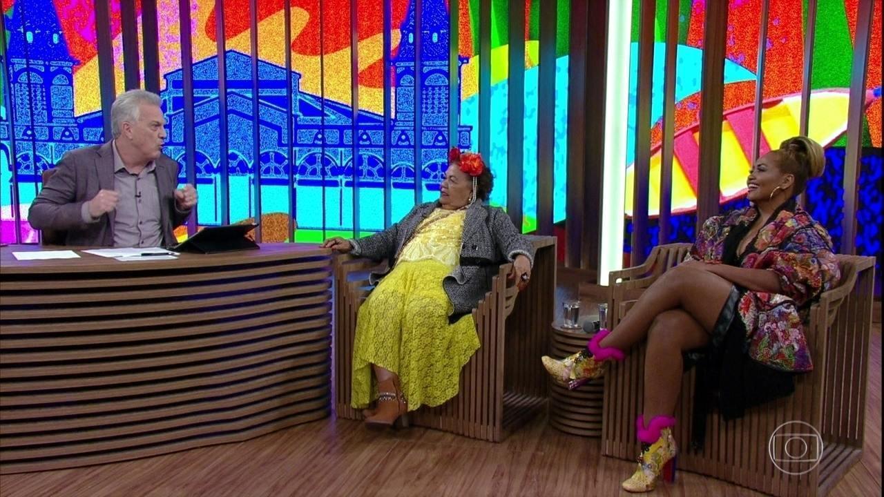 Gaby Amarantos e Dona Onete ajudam Bial a traduzir as gírias paraenses