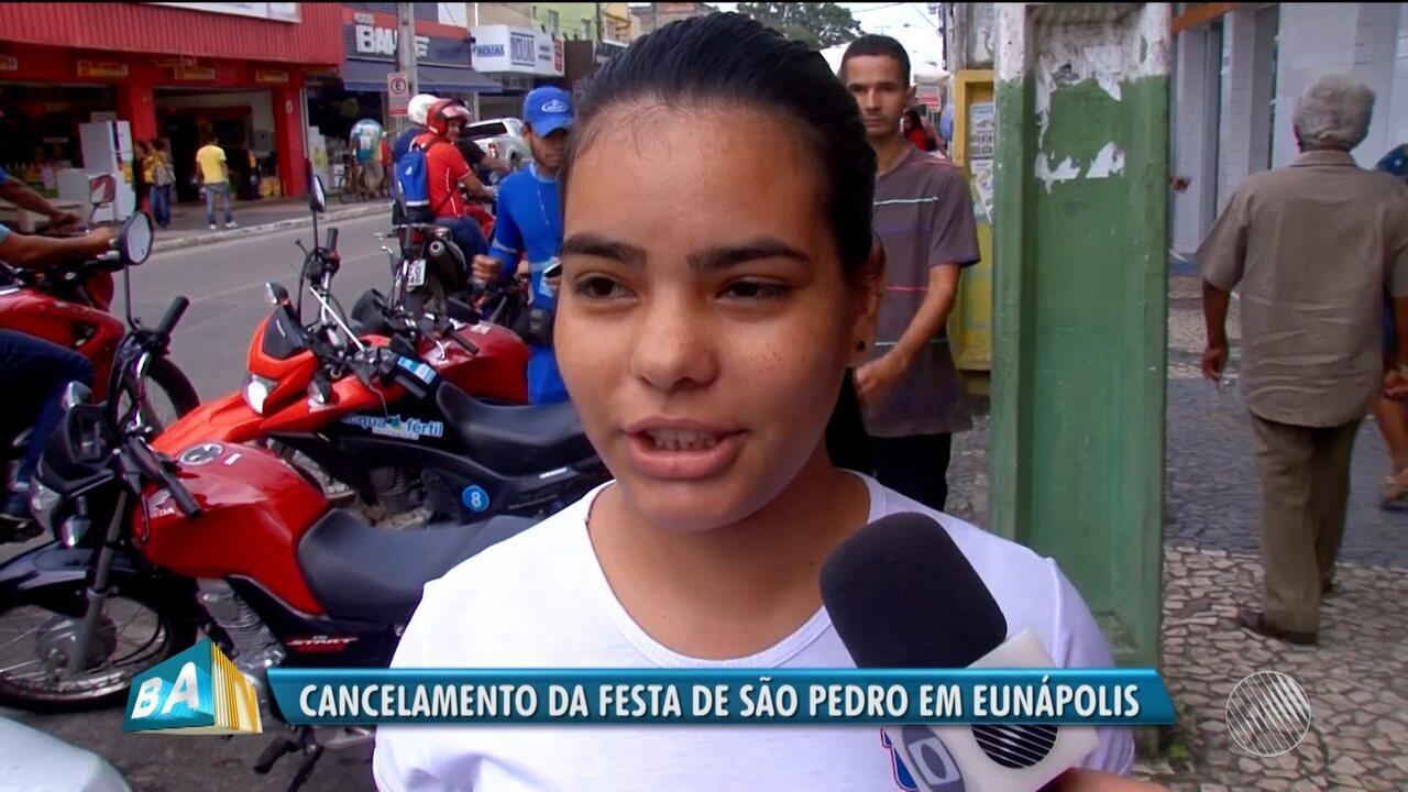 Moradores de Eunápolis comentam cancelamento de festa de São Pedro