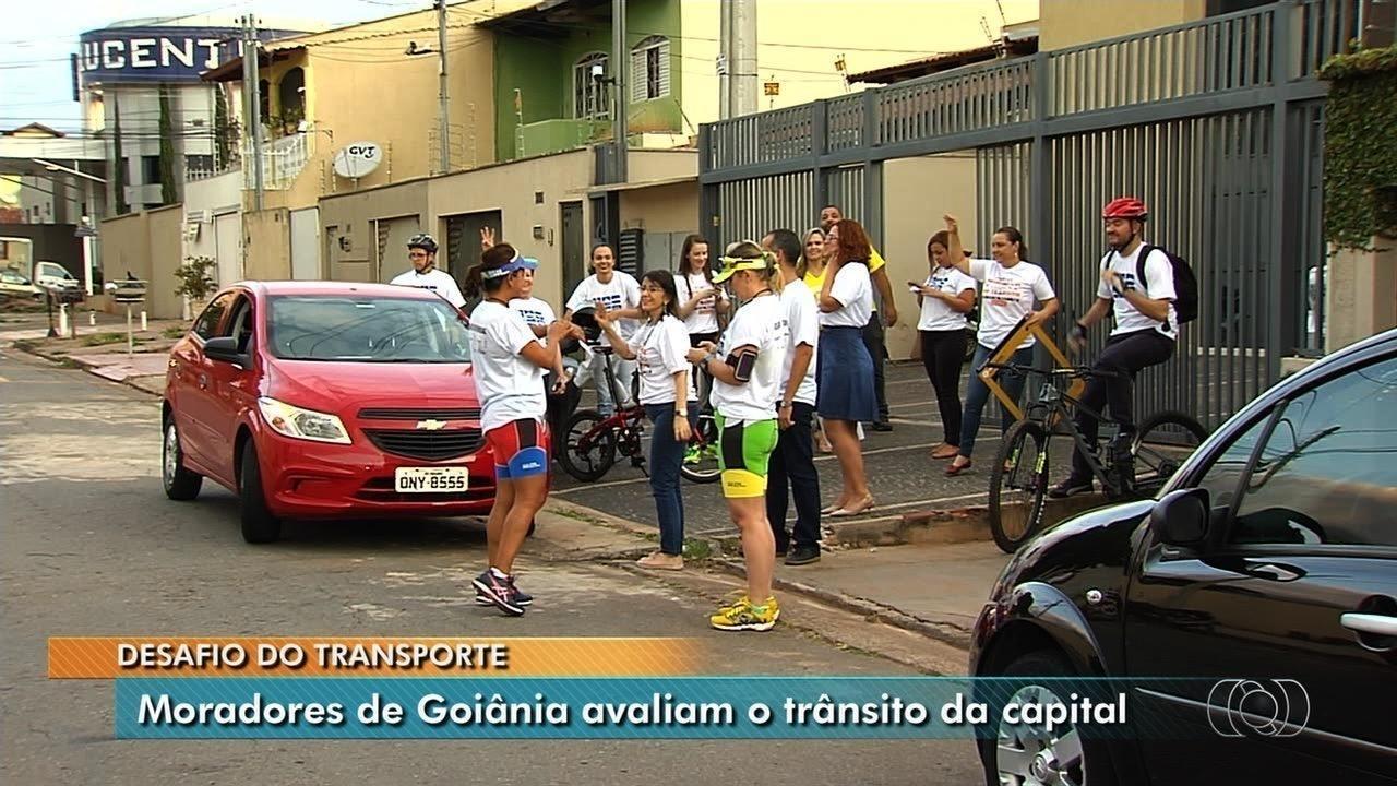Desafio mostra qual o meio de locomoção é mais rápido em Goiânia