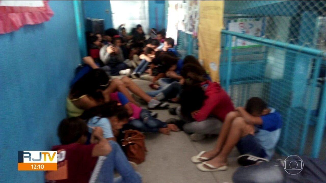 Alunos de São Gonçalo vivem momentos de pânico durante operação policial