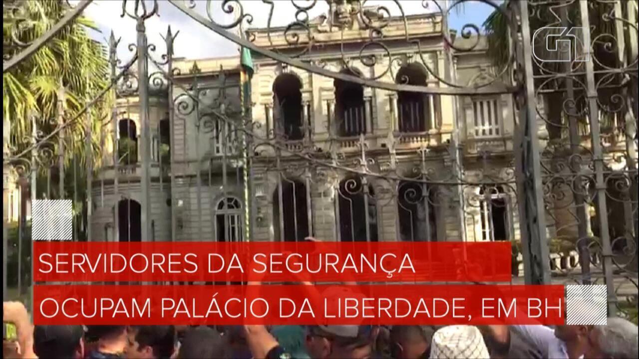 Servidores da segurança ocupam Palácio da Liberdade, em BH