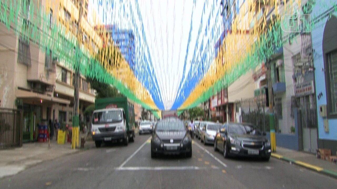 Ruas do Rio começam a entrar no clima da Copa