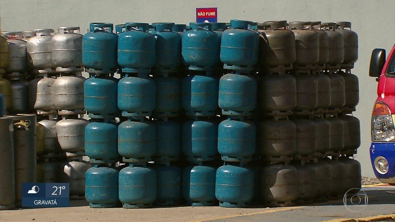 TV Globo flagra comerciantes vendendo botijões de gás a preços considerados ilegais