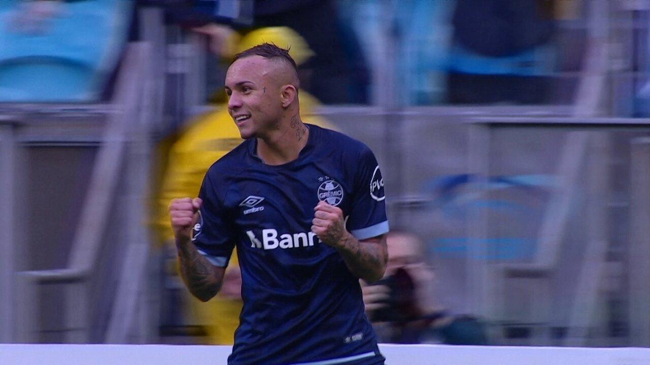 Confira o lançamento de Cícero para o gol de Everton