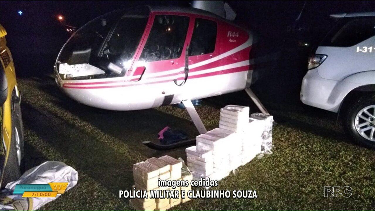 Helicóptero com drogas é apreendido no norte pioneiro