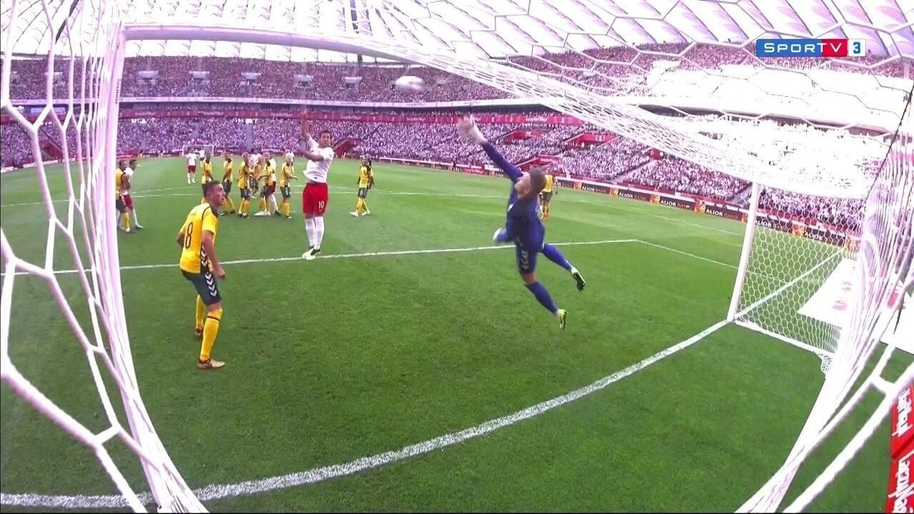 Assista aos gols de Polônia 4 x 0 Lituânia
