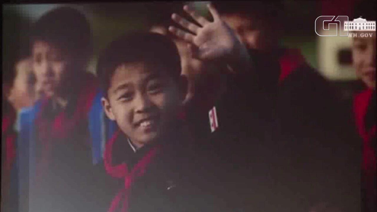 Trump mostra vídeo a Kim para estimular boas relações entre EUA e Coreia do Norte