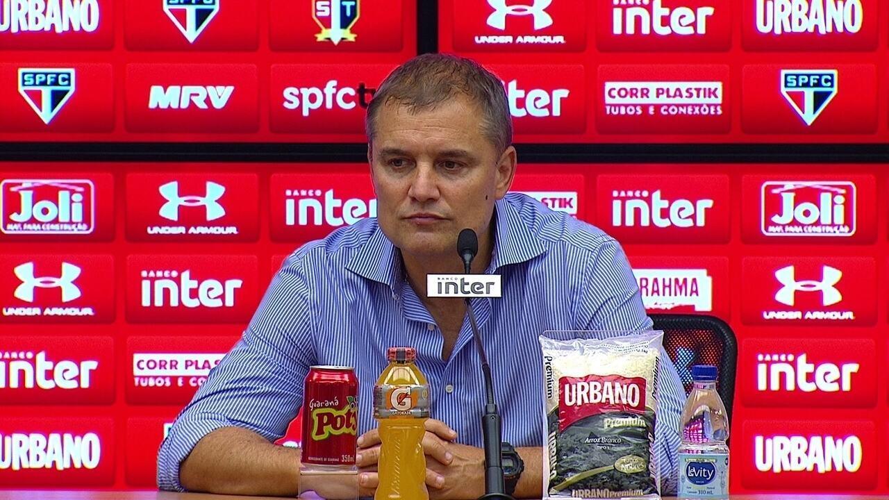 Aguirre analisa atuação contra o Vitória e bom momento do São Paulo no Brasileirão