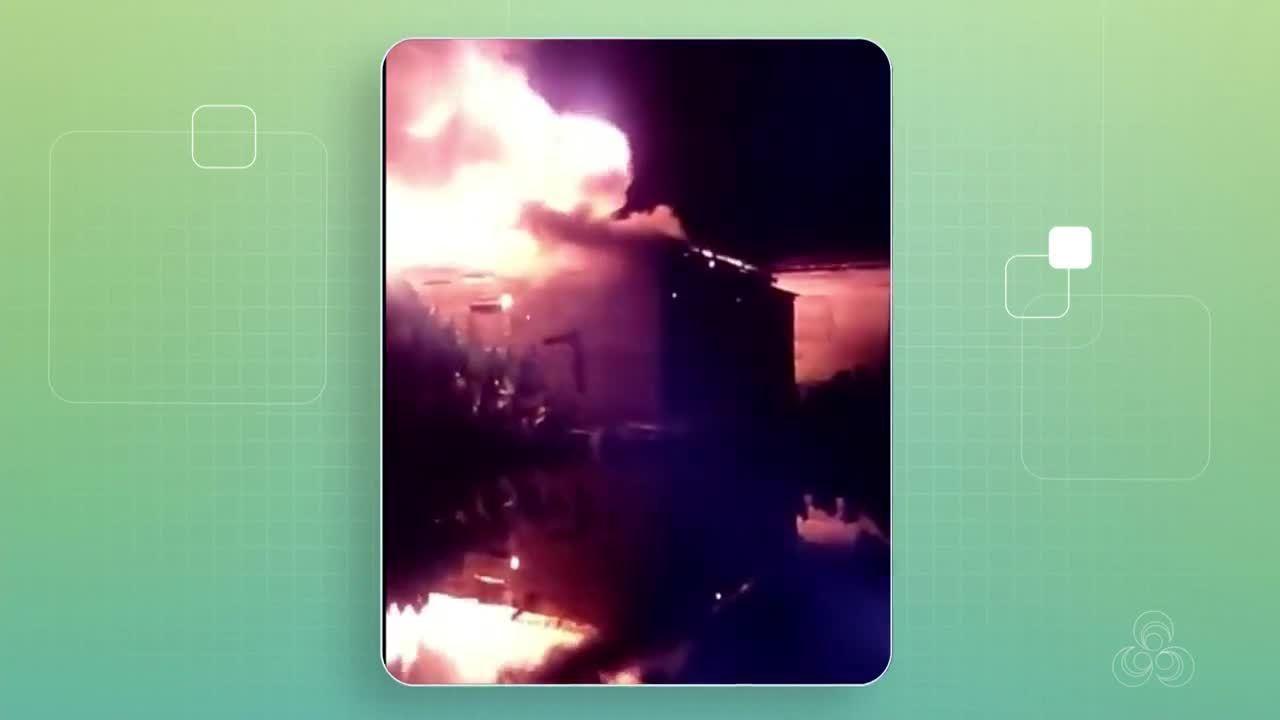 Incêndio criminoso destrói casa de madeira na Zona Sul de Macapá, diz PM