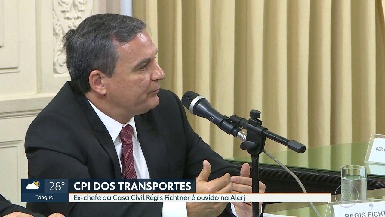 Régis Fichtner nega acusações da Lava Jato em depoimento à CPI dos Transportes
