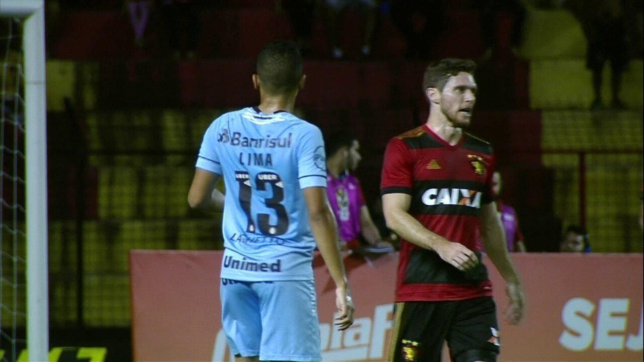 Melhores momentos: Sport 0 x 0 Grêmio pela 12ª rodada do Brasileirão