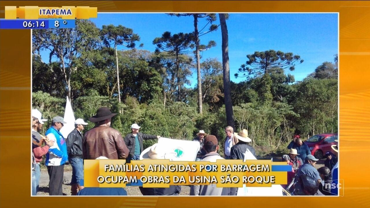 Famílias atingidas por barragem ocupam obras da Usina São Jorge