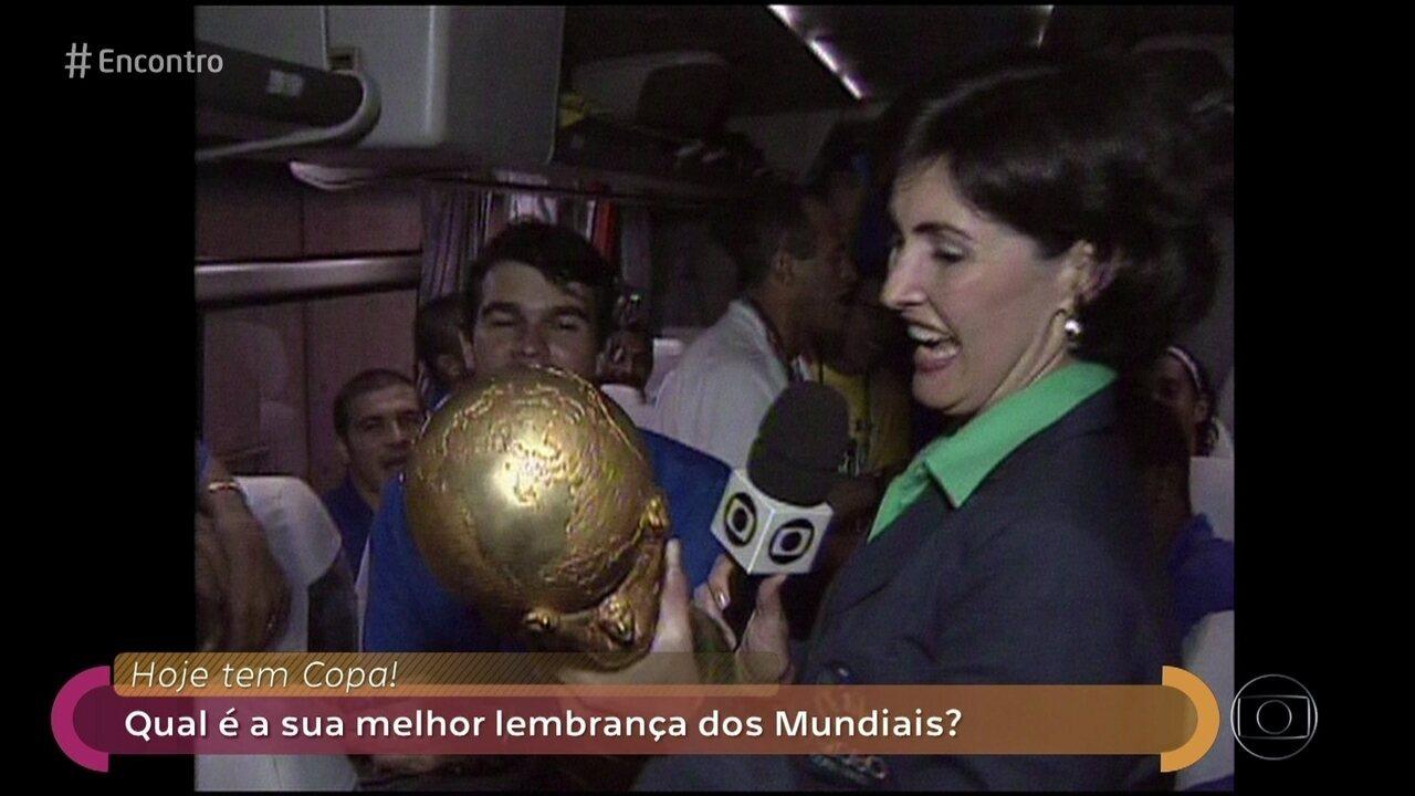Fátima relembra momento em que ergueu a Taça da Copa do Mundo