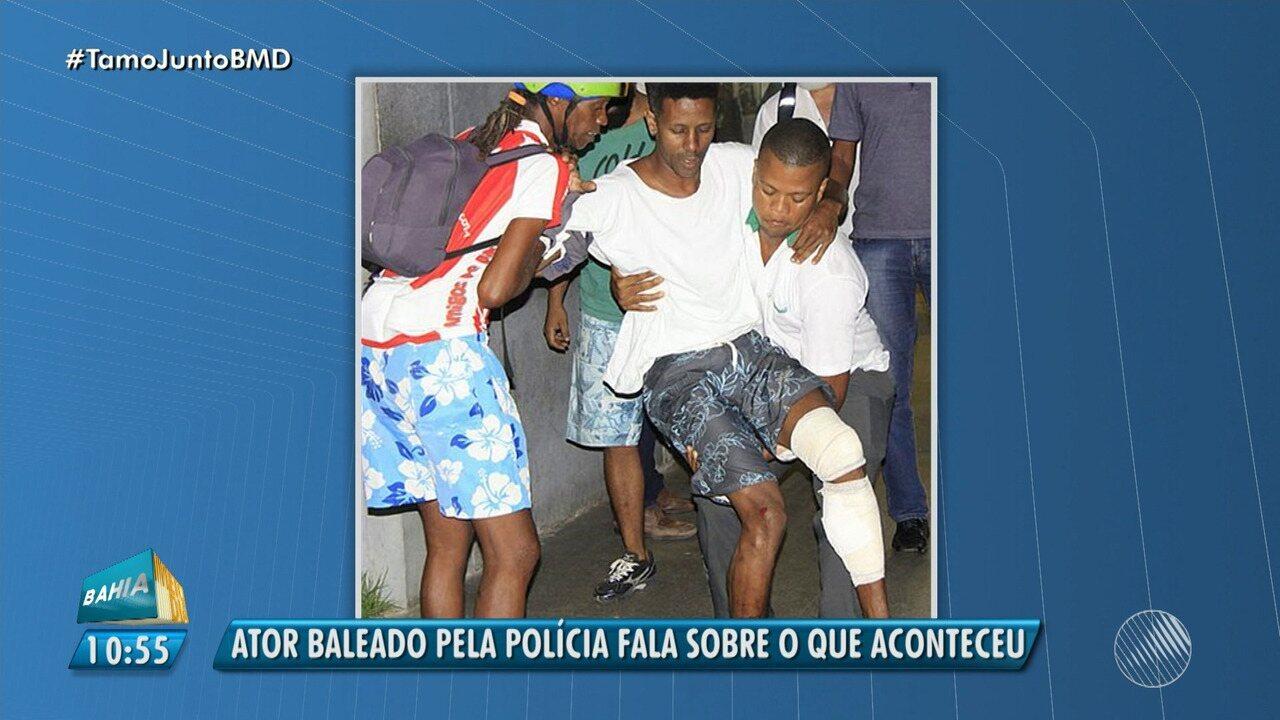 Ator do Bando de Teatro Olodum é baleado por policial civil; corregedora fala sobre o caso