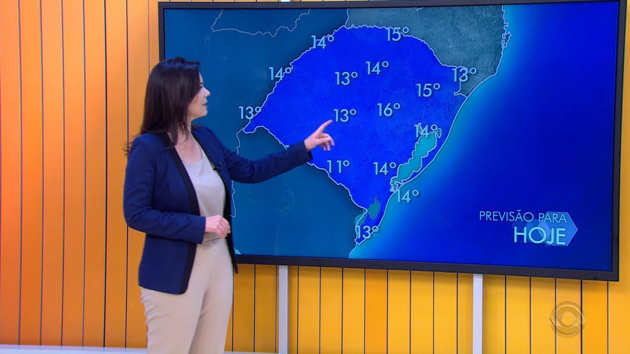 Tempo: temperatura mais baixa do ano é registrada nesta quinta-feira (14) no RS
