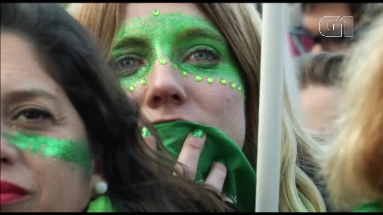 Votação sobre aborto na Argentina é marcada por protestos