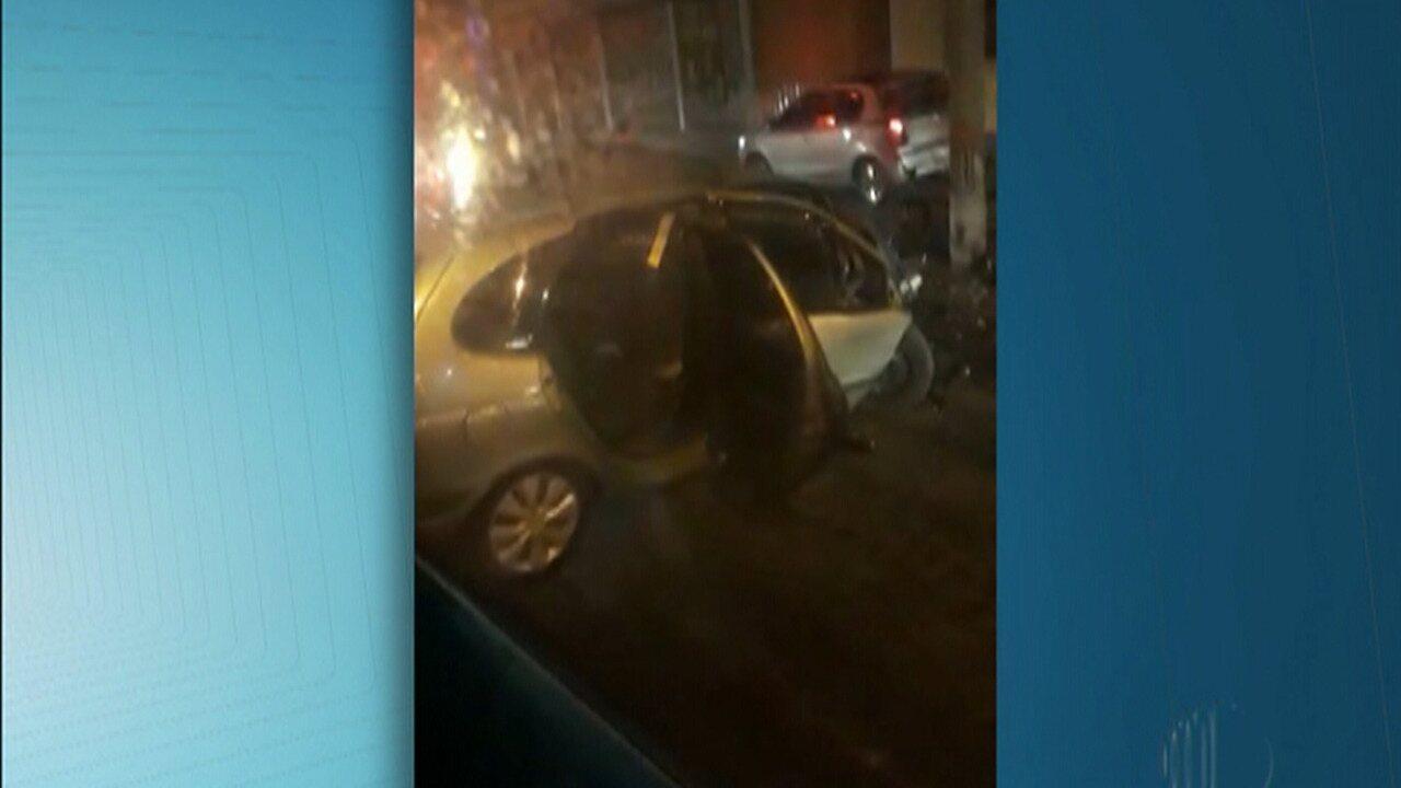 Acidente deixa uma pessoa ferida no centro de Mogi das Cruzes