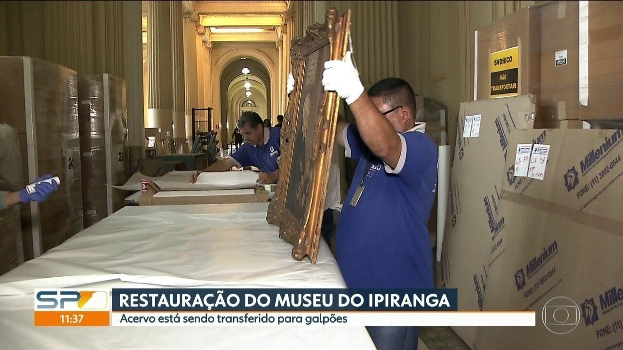 Acervo do Museu do Ipiranga é transferido para a restauração