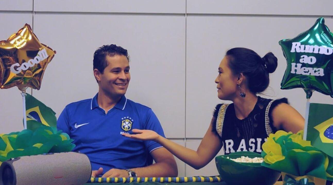 Pedro e Cris entram no clima da Copa e tentam falar russo