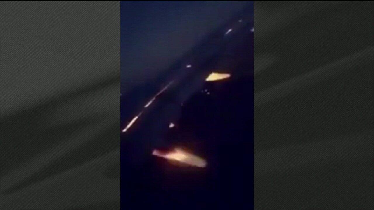 Turbina do avião da seleção da Arábia Saudita pega fogo