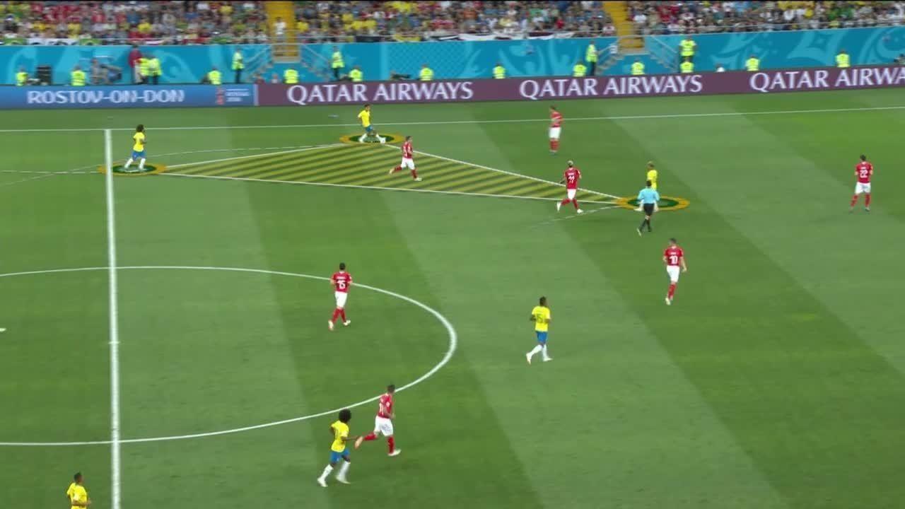Confira a triangulação do time do Brasil no gol marcado por Philippe Coutinho