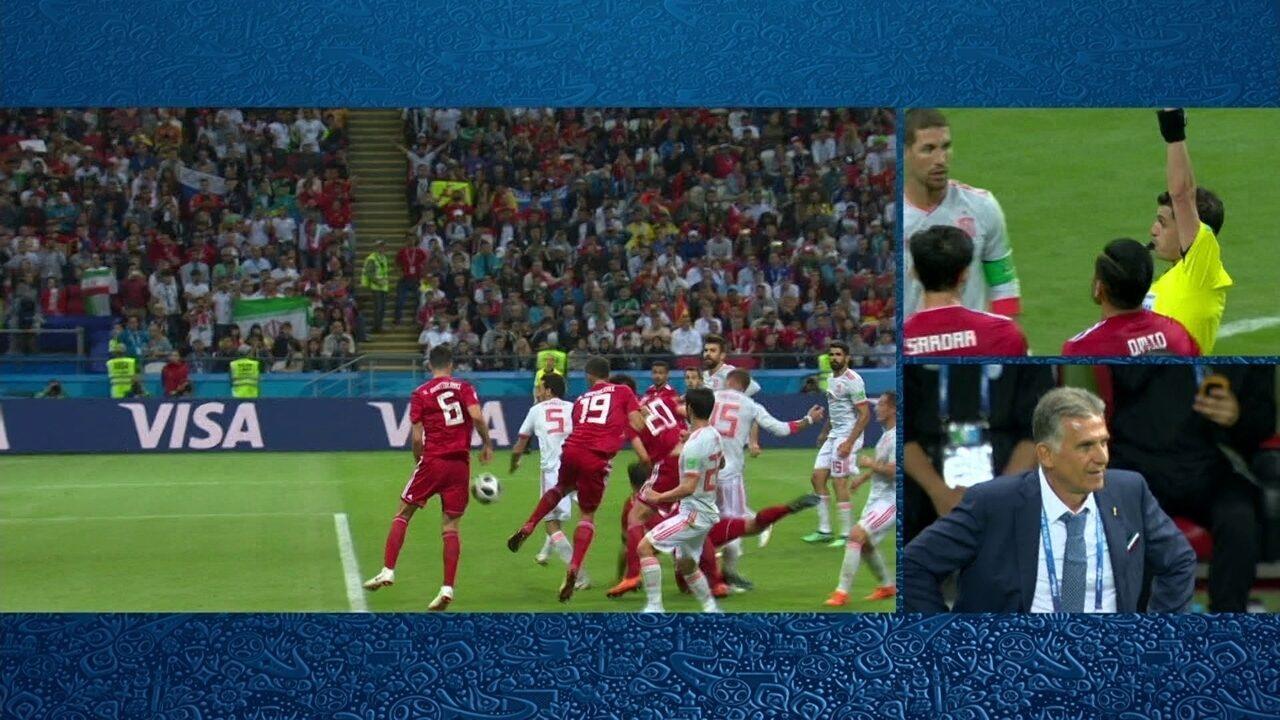 Ezatolahi marca, mas VAR anula o gol do Irã aos 16 do 2º tempo