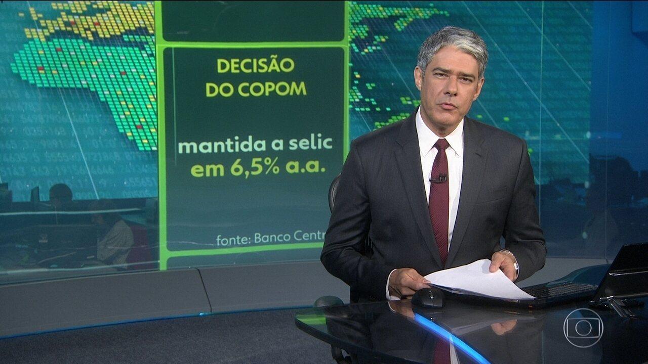 Resultado de imagem para BRASIL/ECONOMIA: BANCO CENTRAL MANTÉM JUROS BÁSICOS EM 6,5% AO ANO PELA QUARTA VEZ SEGUIDA