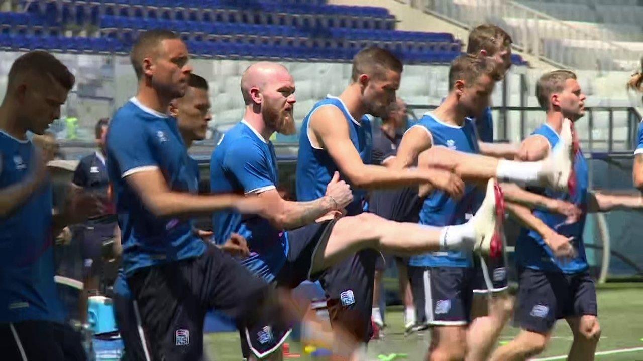 Islândia treina para enfrentar a Nigéria pela segunda rodada da Copa do Mundo