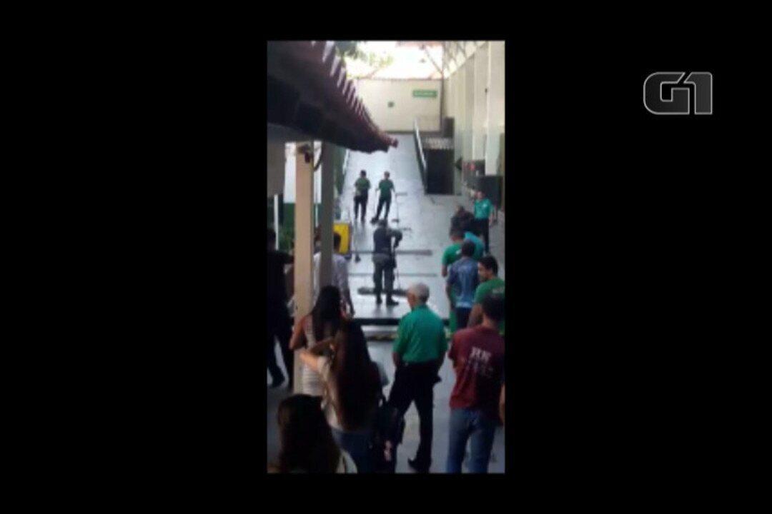 Sucuri de 4 metros entra em universidade de Belém e assusta alunos