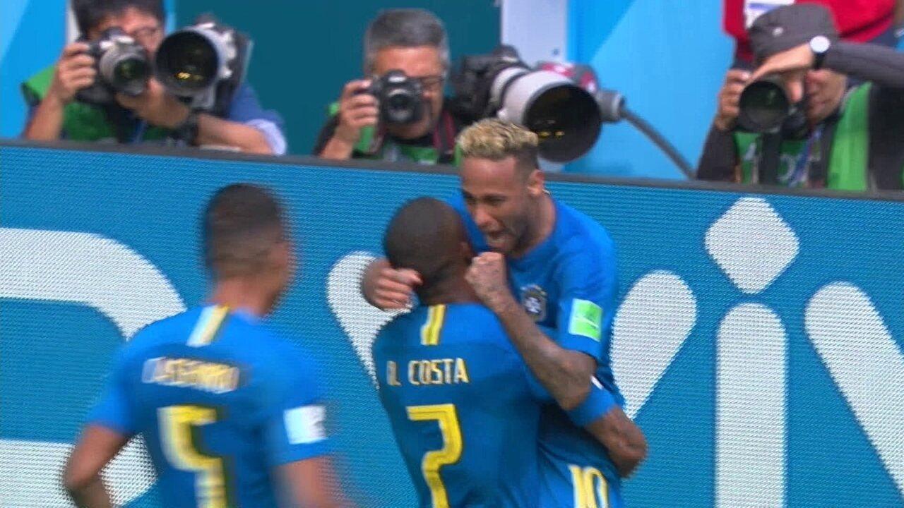 Os gols de Brasil 2 x 0 Costa Rica pela Copa do Mundo 2018