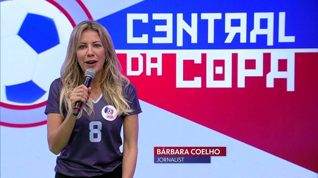 Bárbara Coelho no Central da Copa