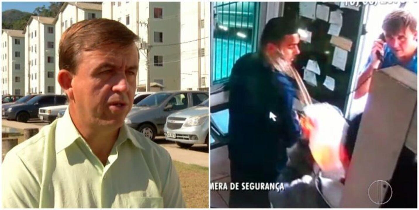 Morador do Residencial Ermitage testemunhou homem ateando fogo em porteiro em Teresópolis