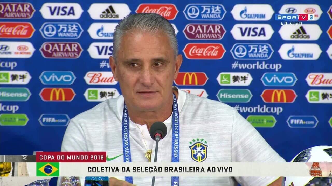 7fc6c4b007 Tite confirma mesmo time contra a Sérvia e alerta que Seleção está de olho  na bola
