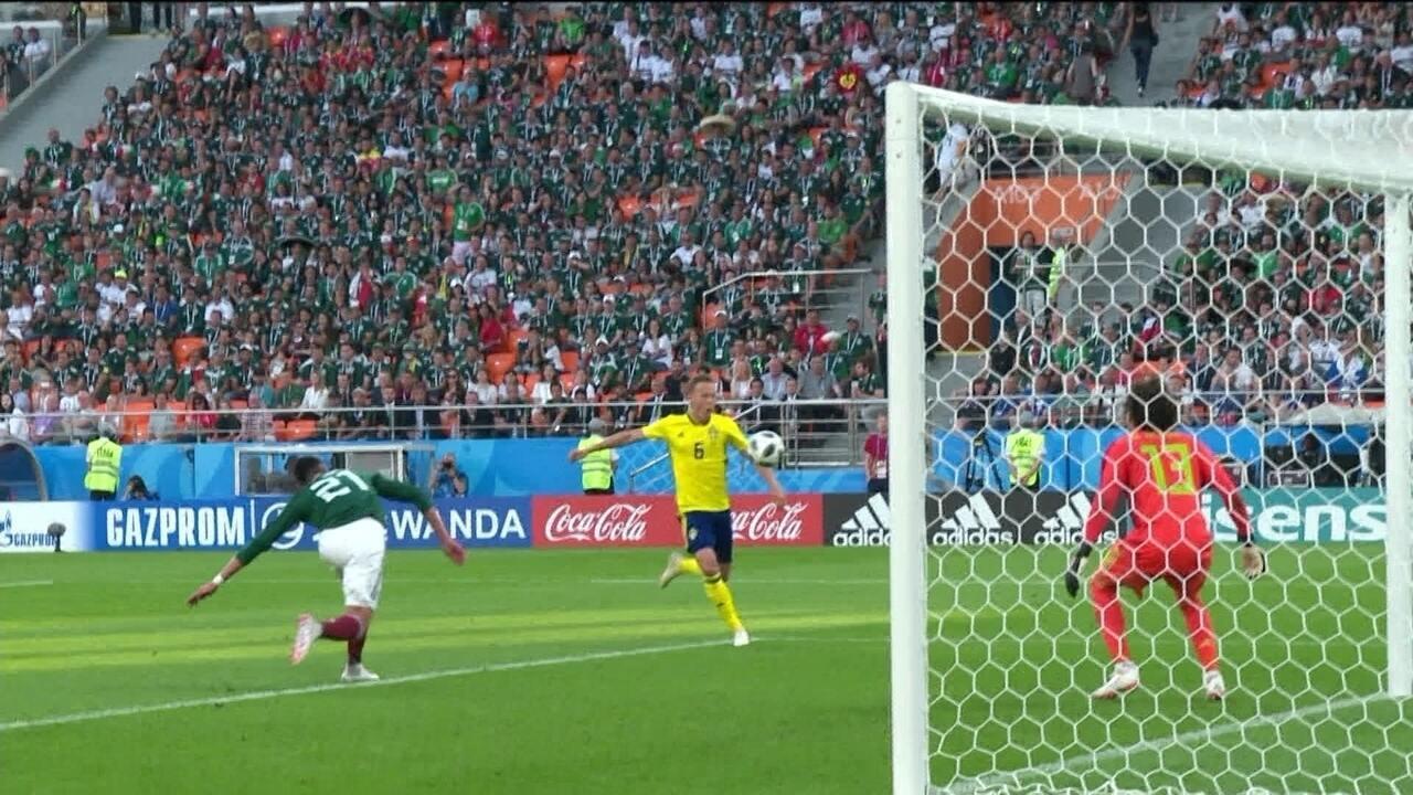 Os melhores momentos de Suécia 3 x 0 México, pela Copa do Mundo