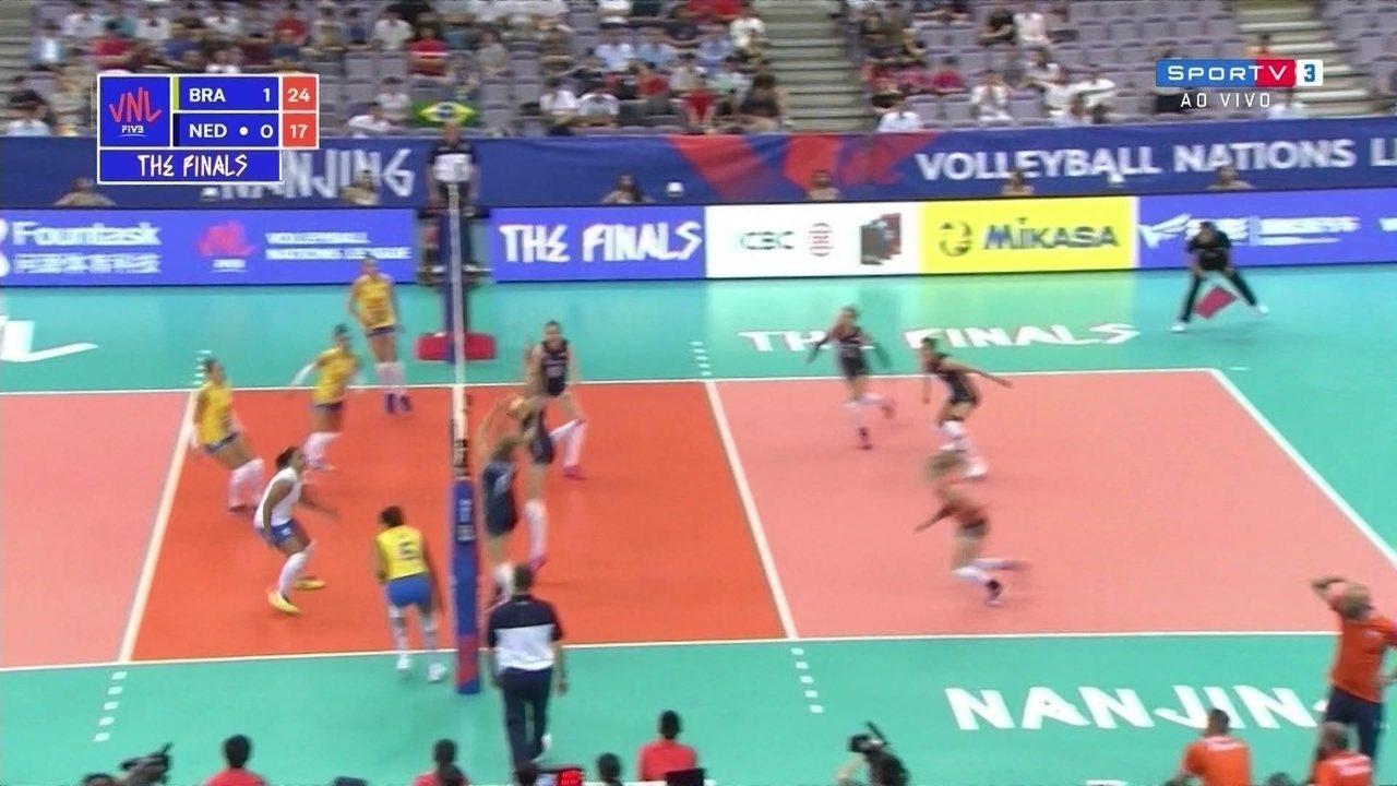Melhores momentos: Brasil 3 x 0 Holanda pela Liga das Nações de vôlei feminino