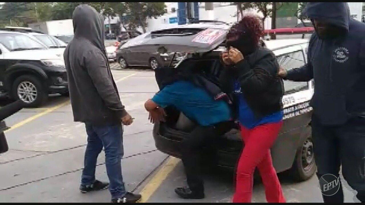 Trio foi preso em Campinas, nesta quinta-feira