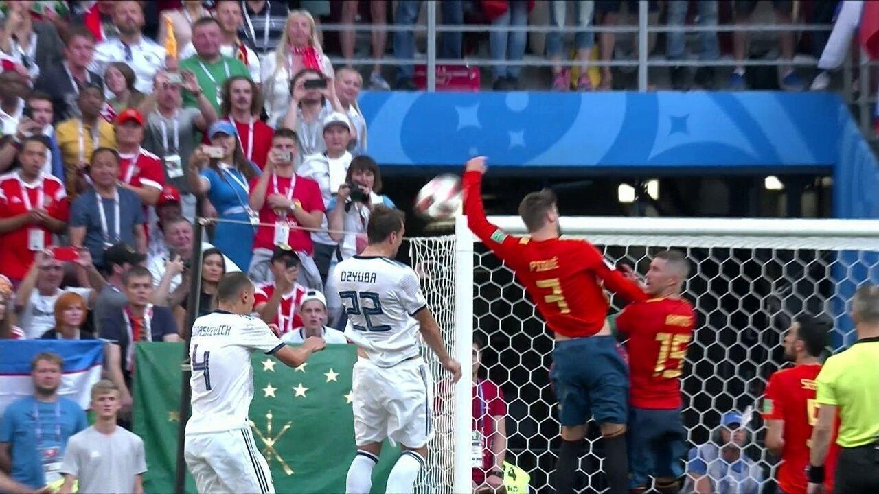 Melhores momentos de Espanha 1 (3) x (4) 1 Rússia pelas oitavas de final da Copa do Mundo