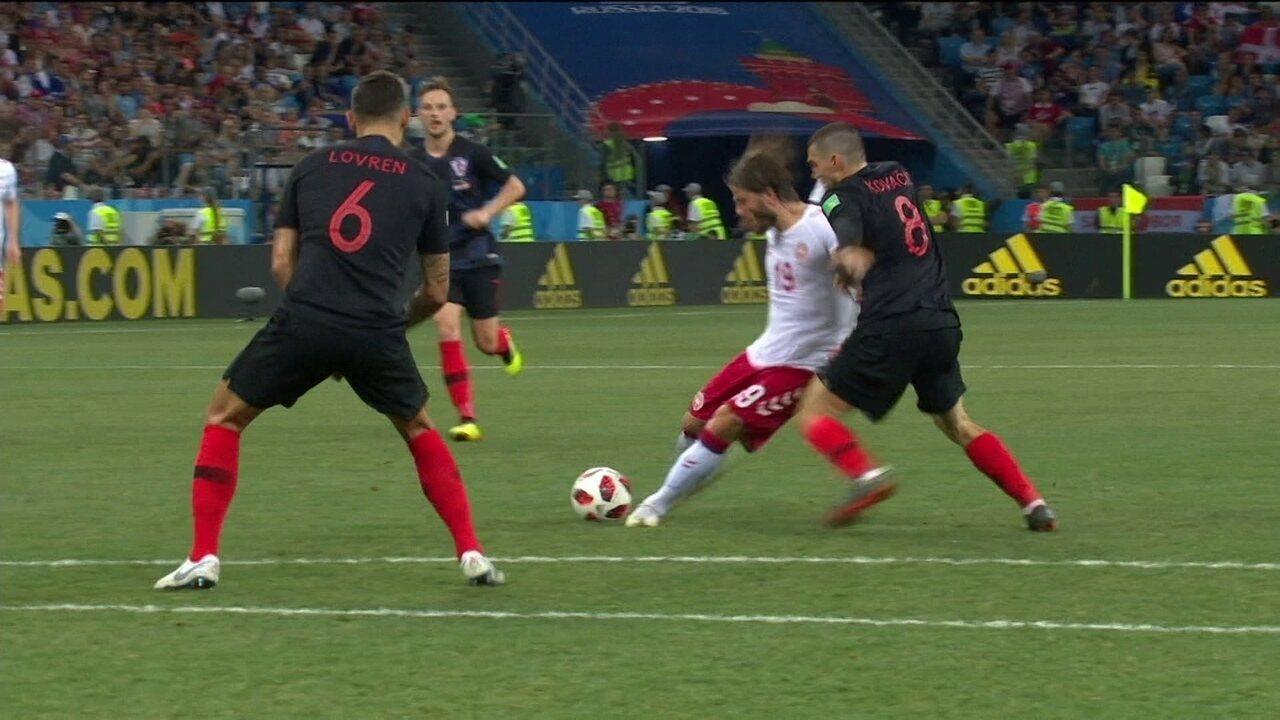 Melhores momentos  Croácia 1 (3 ) x (2) 1 Dinamarca pelas oitavas 7ae842c78d9f4