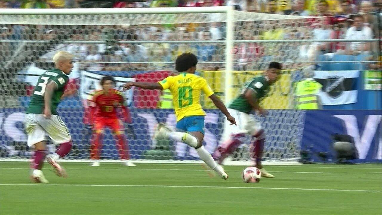 0702d73e52 Melhores momentos  Brasil 2 x 0 México pelas oitavas da Copa do Mundo 2018