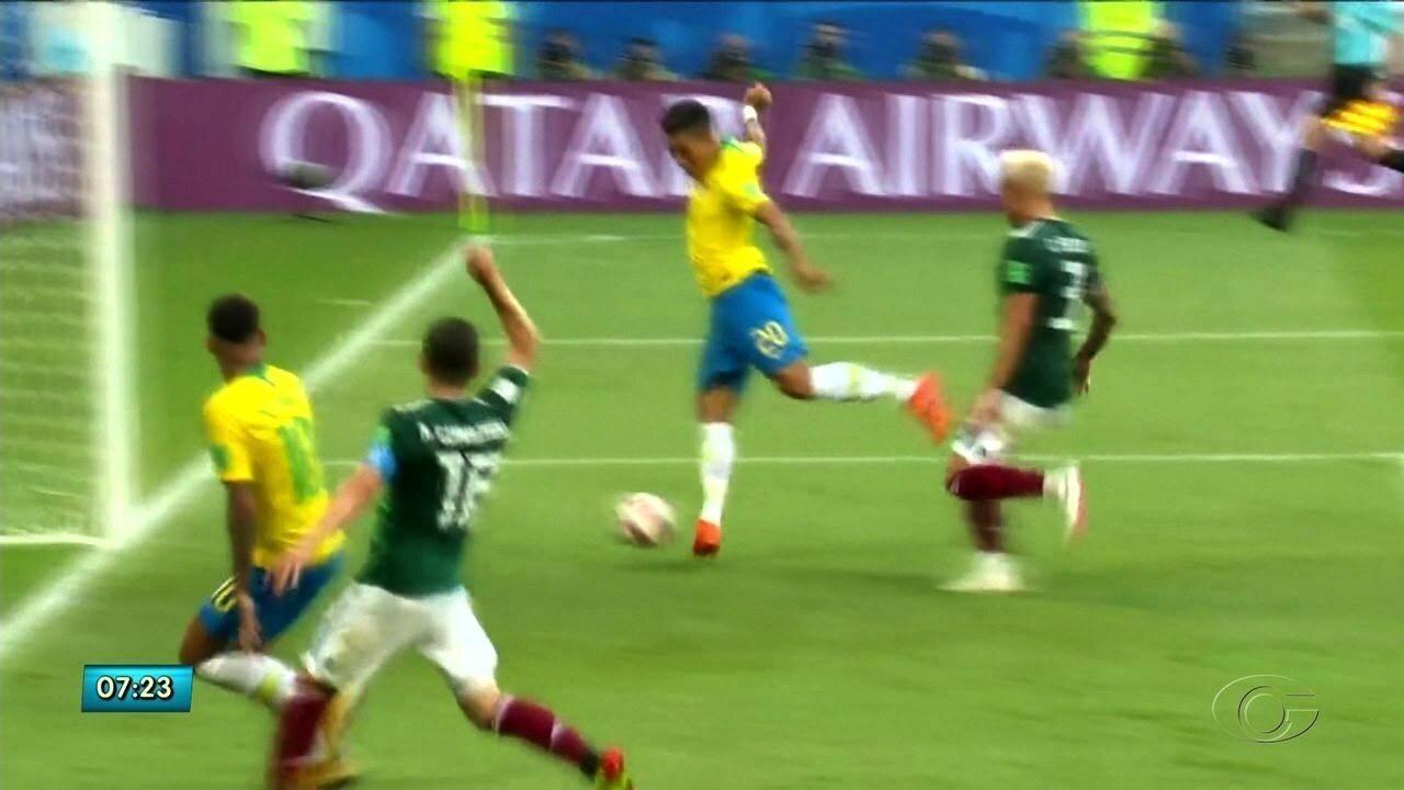 Firmino faz gol que sela vitória do Brasil e garante vaga para as quartas de final
