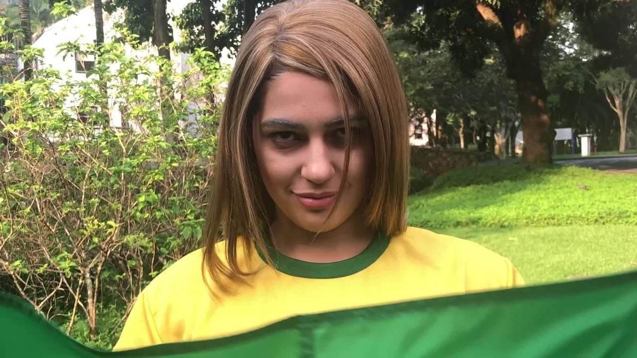 'Vídeo Show' reproduz meme de torcedor do Brasil na Rússia