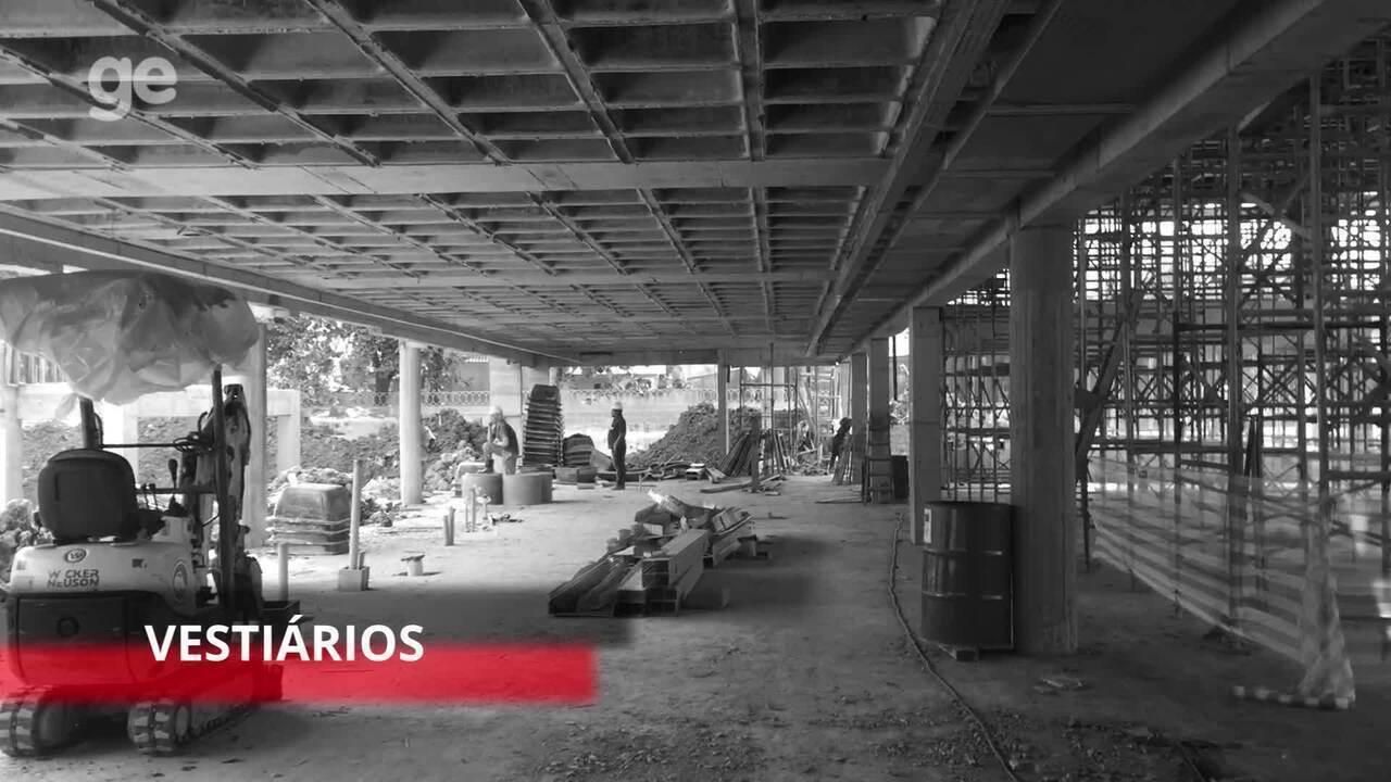 Ge.com faz tour pela obras do novo módulo profissional do Flamengo 056730427c869