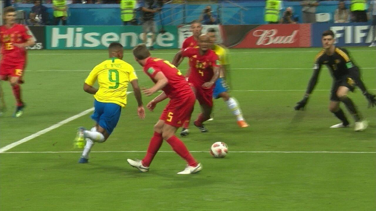 da11bb2e44 Melhores momentos de Brasil 1 x 2 Bélgica pelas quartas da Copa do Mundo  2018