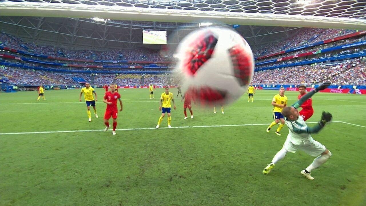 Melhores momentos: Suécia 0 x 2 Inglaterra pelas quartas de final da Copa do Mundo 2018