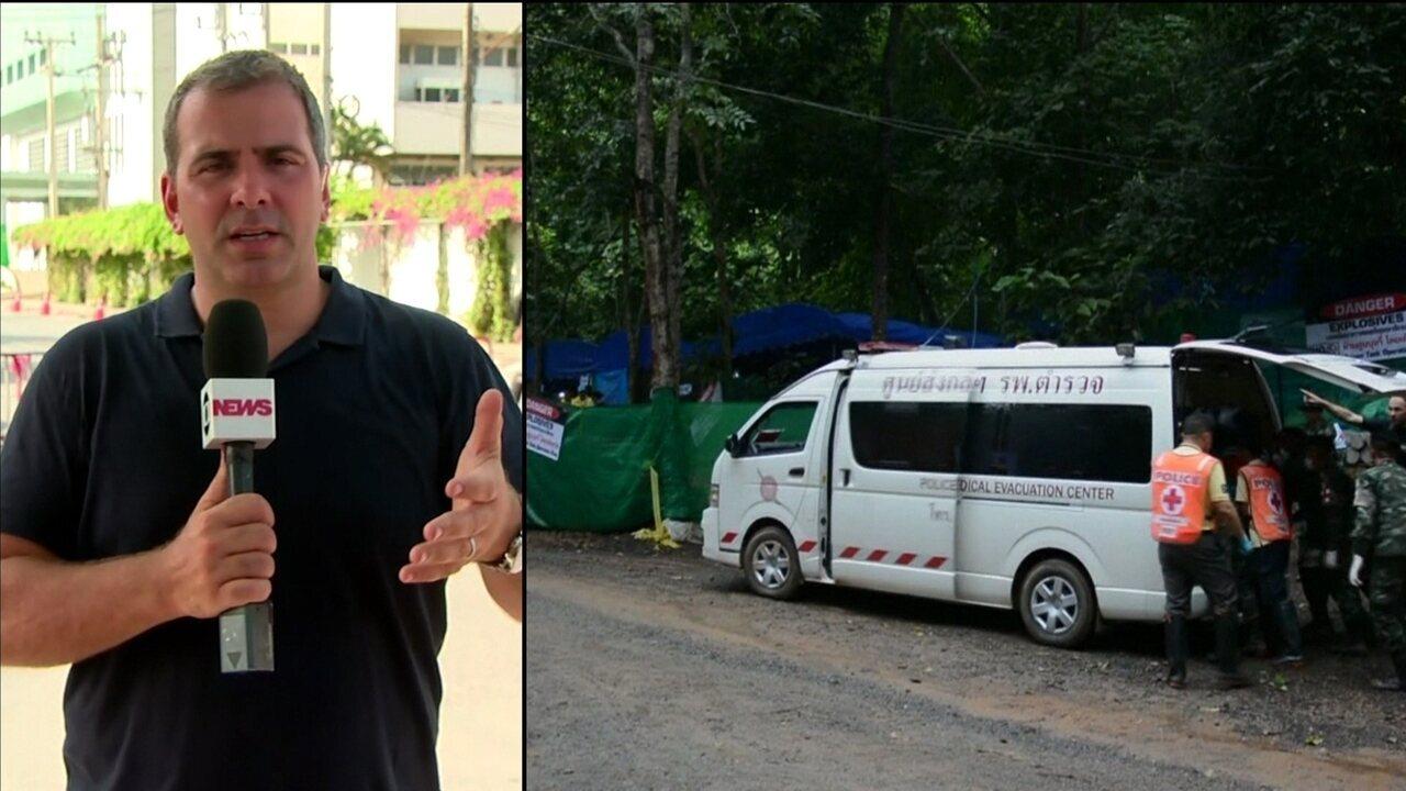 Tempo bom ajuda no resgate de presos em caverna na Tailândia